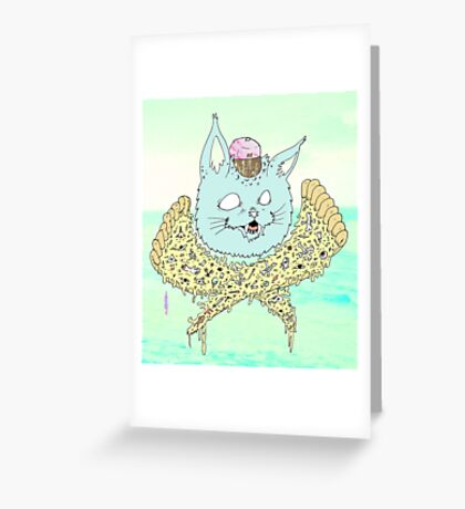 PIZZACAT Greeting Card