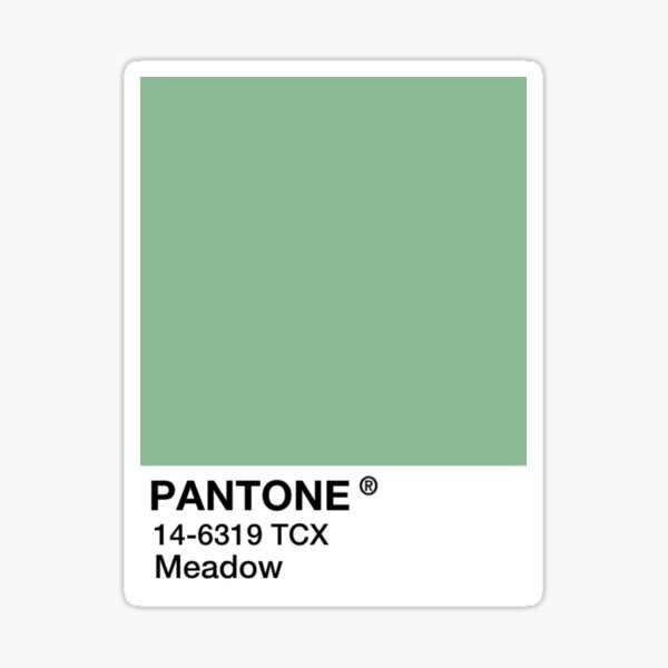 PANTONE Meadow - Green Sticker