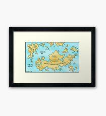 Linux World Map Framed Print