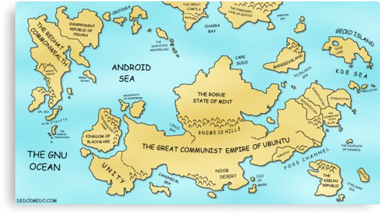 Linux World Map by m4nsh