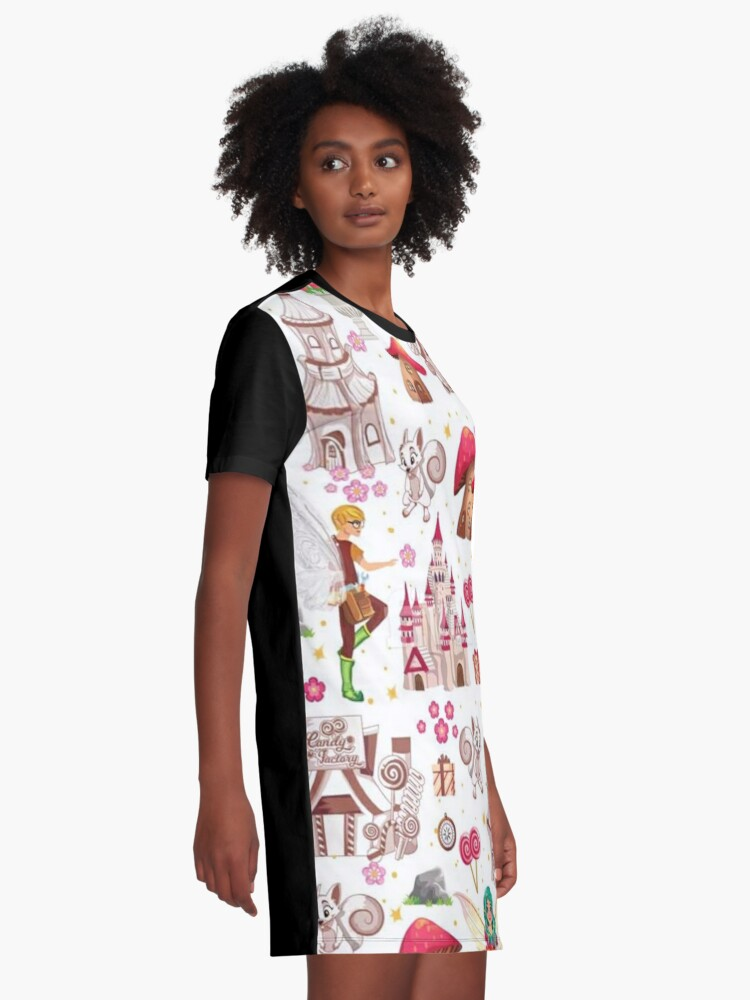 Alternate view of Tommy Tinker's Magical Fairy Kingdom™  Graphic T-Shirt Dress