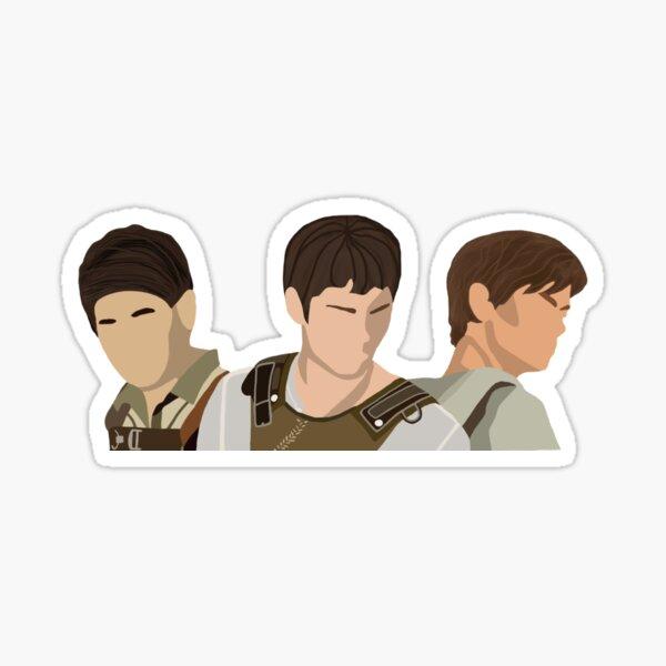 the maze runner trio  Sticker