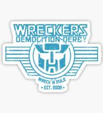 Wreck 'n' Rule - Blue Sticker