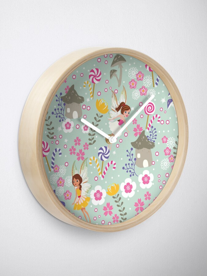 Alternate view of Green Fairy Helpers In Tommy Tinker's Village™ Clock