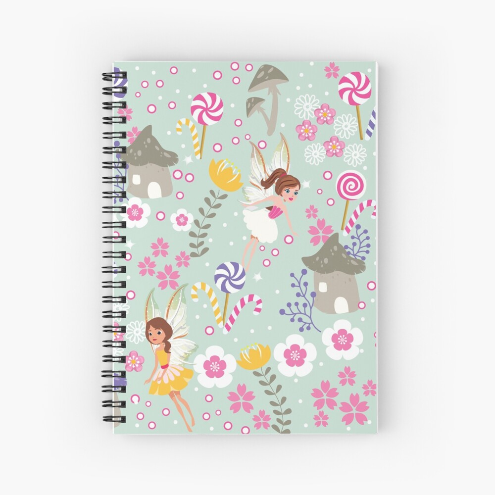 Green Fairy Helpers In Tommy Tinker's Village™ Spiral Notebook