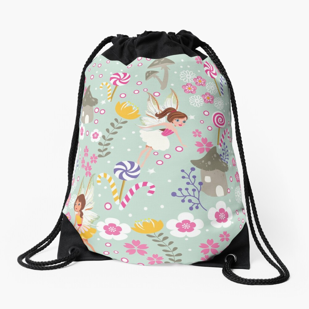 Green Fairy Helpers In Tommy Tinker's Village™ Drawstring Bag