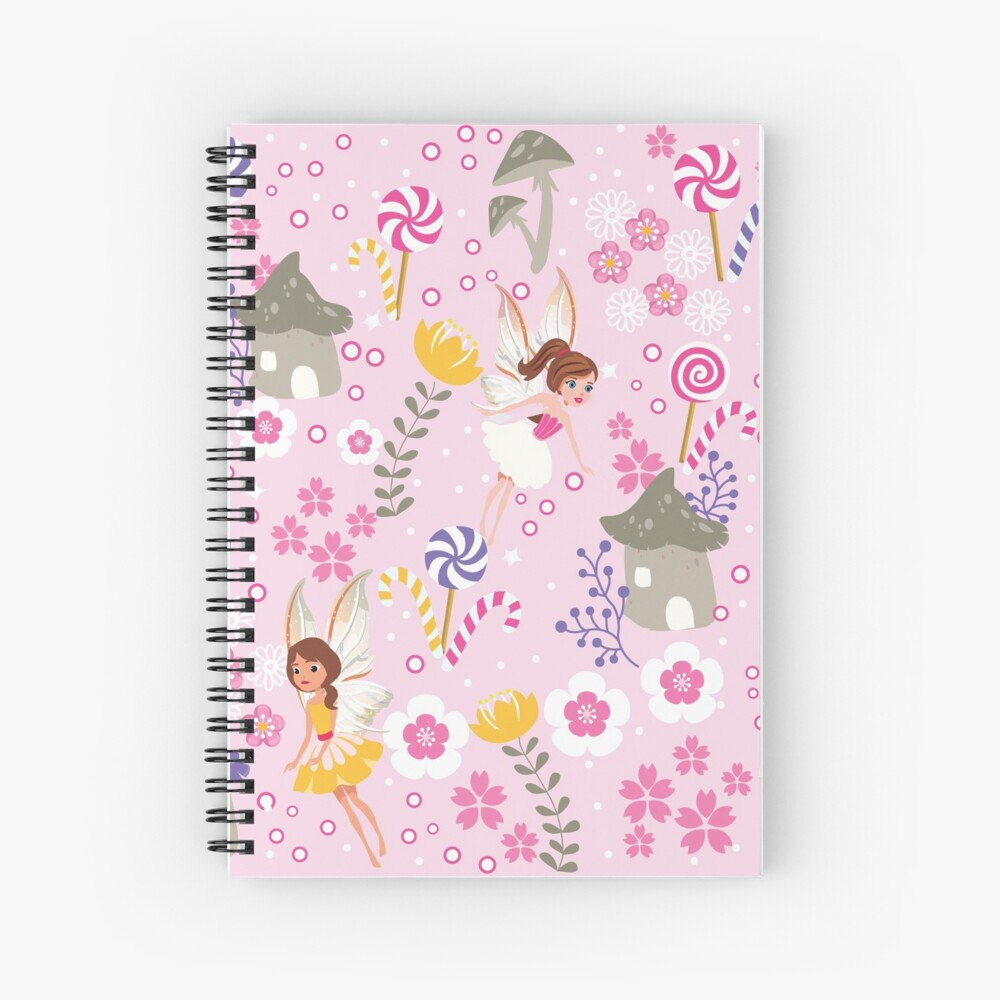 The Pink Fairy Helpers In Tommy Tinker's Village™ Spiral Notebook