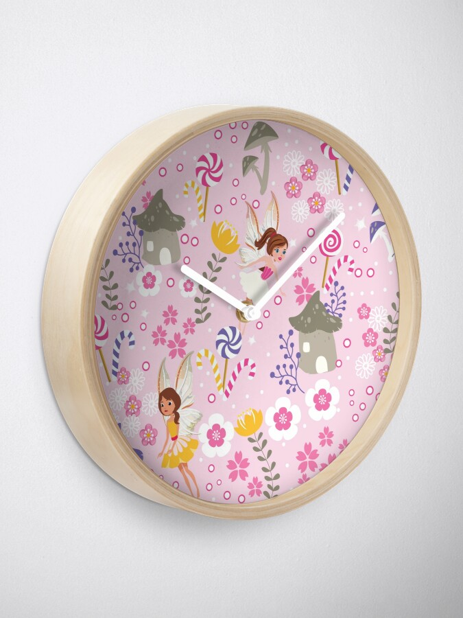 Alternate view of The Pink Fairy Helpers In Tommy Tinker's Village™ Clock