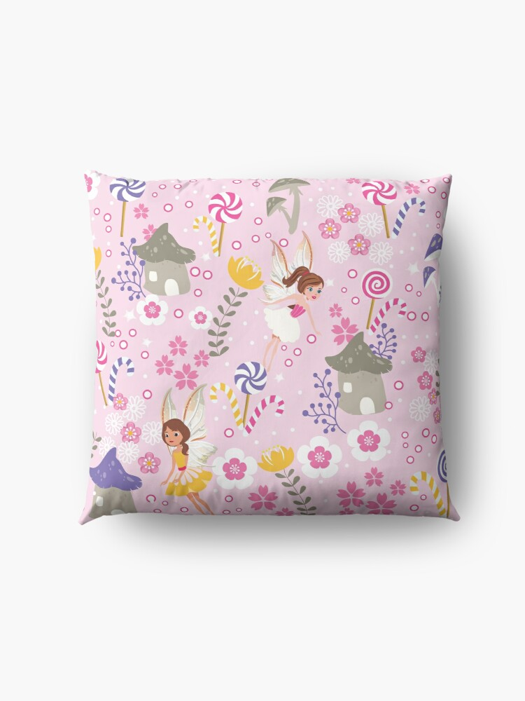 Alternate view of The Pink Fairy Helpers In Tommy Tinker's Village™ Floor Pillow