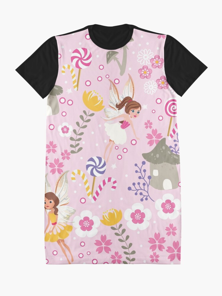 Alternate view of The Pink Fairy Helpers In Tommy Tinker's Village™ Graphic T-Shirt Dress