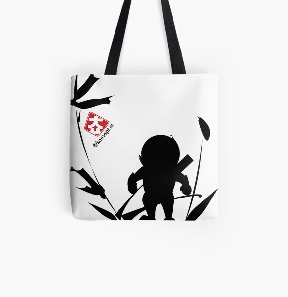 사나이 가는길 밤부숲 All Over Print Tote Bag
