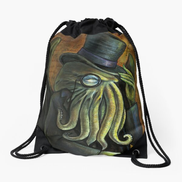 Dapper Cthulhu Drawstring Bag