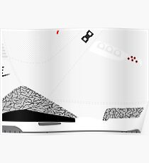 Made in China III White/Cement Size US 9.5 - Pop Art, Sneaker Art, Minimal Poster