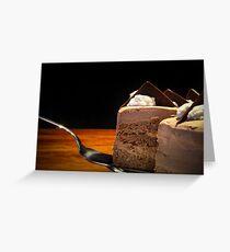 chocolate torte Greeting Card