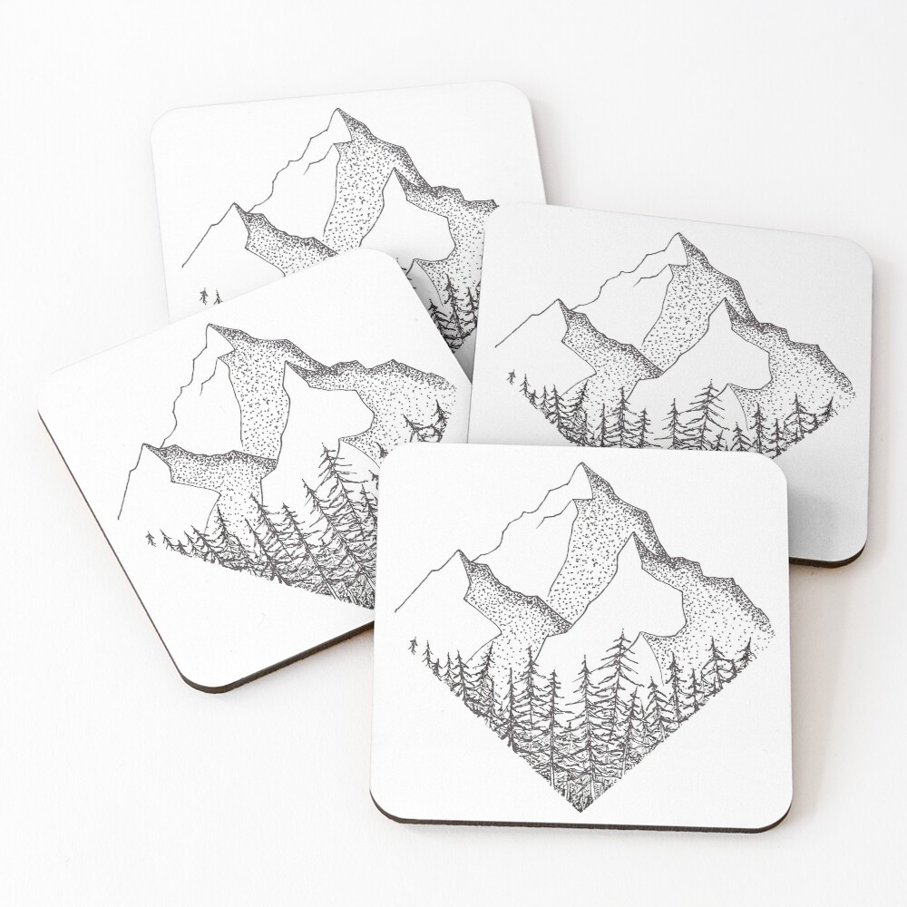 The Diamond Range Coasters (Set of 4)
