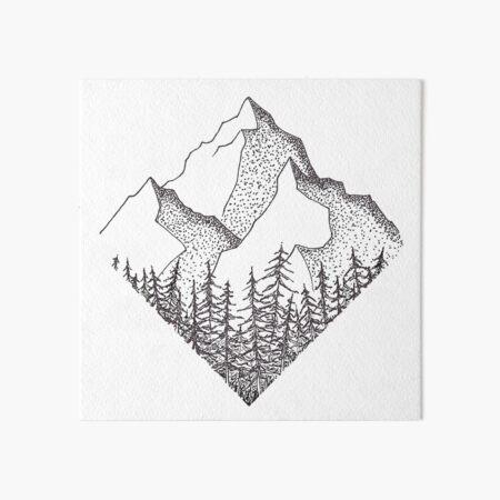 The Diamond Range Art Board Print