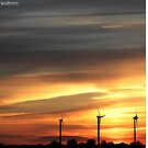 sunset over fehmarn by kraftseins