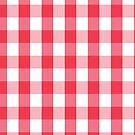Red Gingham Pattern by lunalalonde