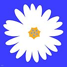 white daisy blue by hennydesigns