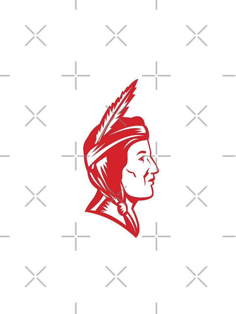 Native American Indian Squaw Woman by patrimonio