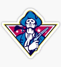 American Patriot Minuteman Flintlock Pistol Sticker