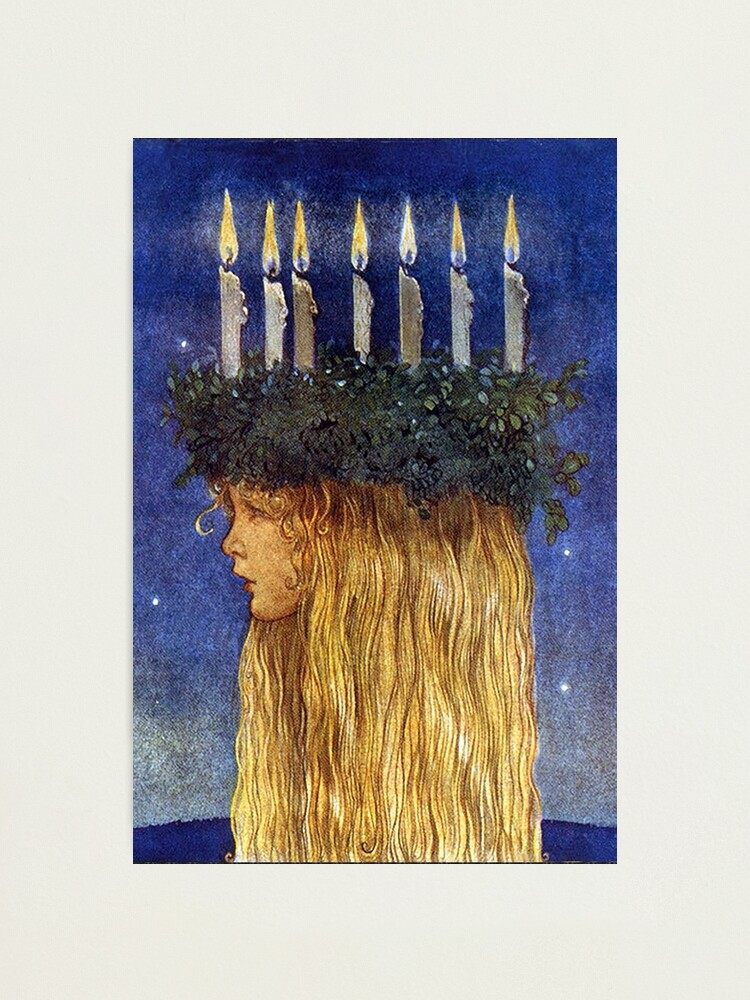 Alternate view of St. Lucia - John Bauer, advent  Photographic Print