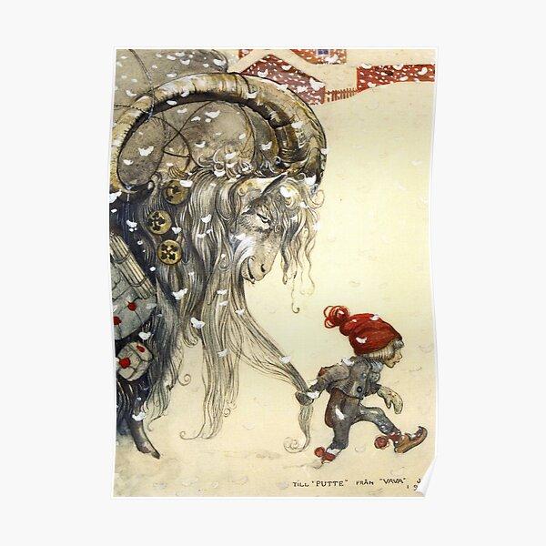 Yule Goat - John Bauer Christmas  Poster