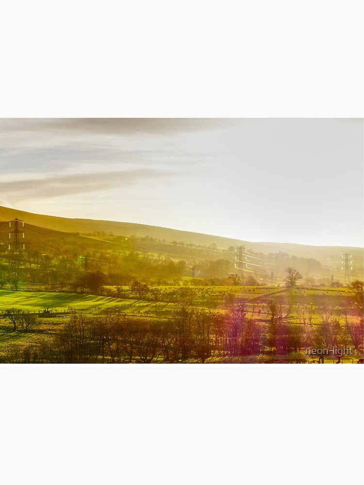 Into the light in the Welsh Hills by neon-light