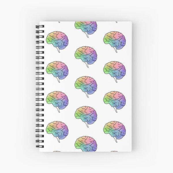 Colorful Brain Spiral Notebook