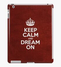Keep Calm and Dream On - Red Leather iPad Case/Skin