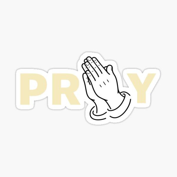 Pray with Praying Hands Sticker