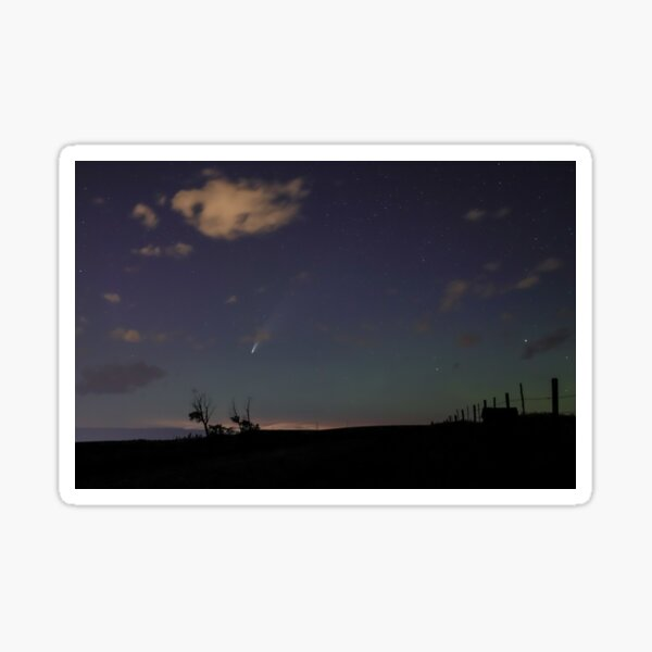 Neowise Comet over the Farm Sticker