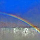 Rainbow Over Horseshoe Falls by Linda Long