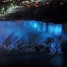 American Falls at Night by Linda Long