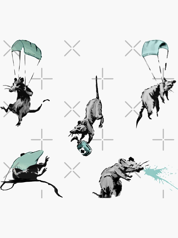 corona virus rats sticker pack by am-mantilla2156