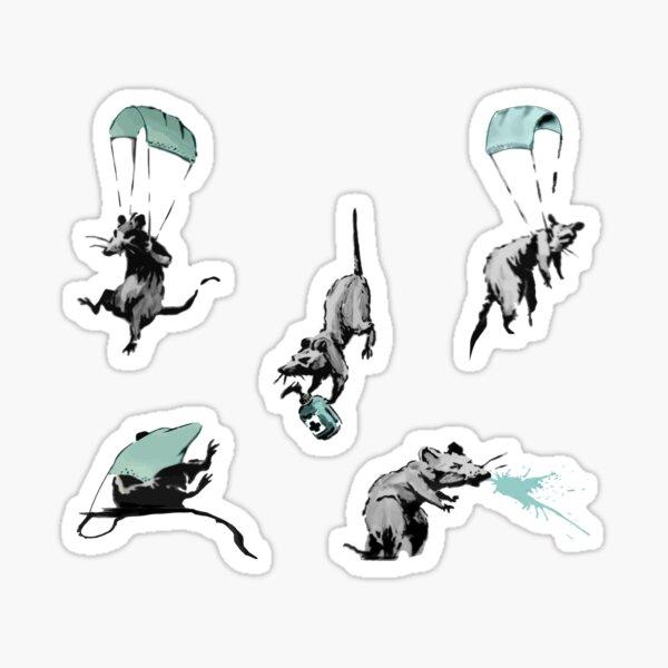 paquete de pegatinas de ratas corona virus Pegatina
