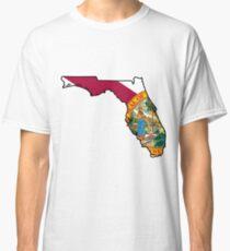 Florida Flag [Blk] | State Line | SteezeFSC Classic T-Shirt