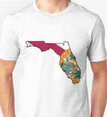Florida Flag [Blk] | State Line | SteezeFSC Slim Fit T-Shirt
