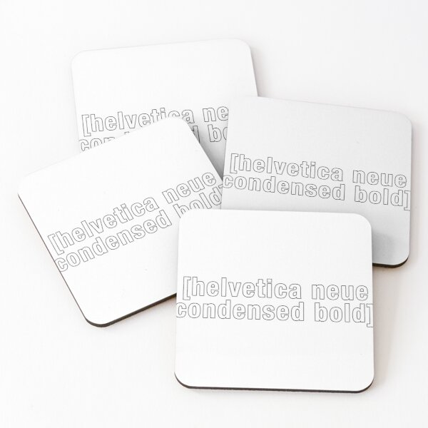 Helvetica Neue Condensed Bold, but Adult Swim Coasters (Set of 4)