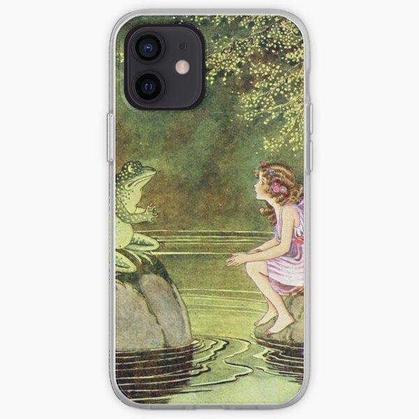Frog and Fairy Talking -Ida Rentoul Outhwaite iPhone Soft Case