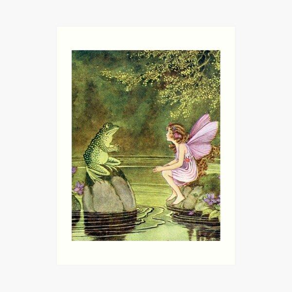 Frog and Fairy Talking -Ida Rentoul Outhwaite Art Print