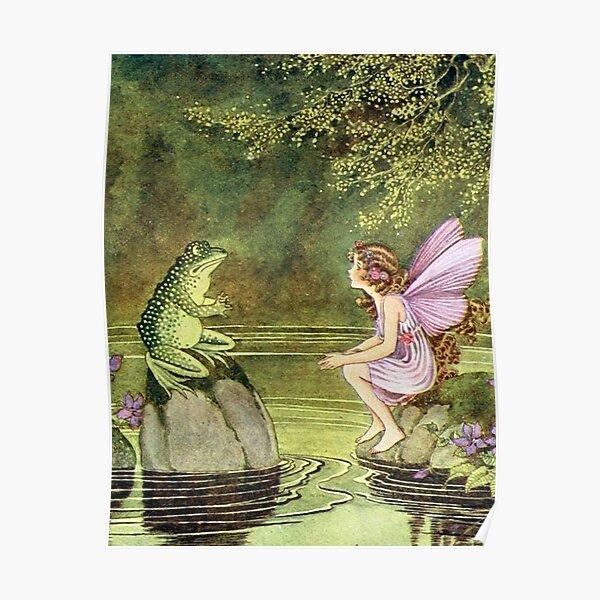 Frog and Fairy Talking -Ida Rentoul Outhwaite Poster