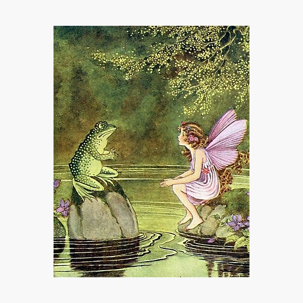 Frog and Fairy Talking -Ida Rentoul Outhwaite Photographic Print