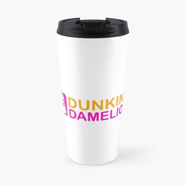 Dunkin damelio pink and orange design Travel Mug