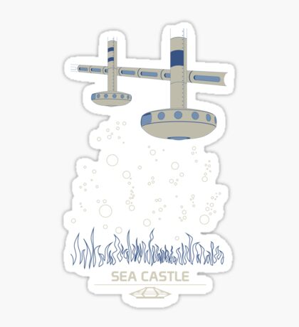Sea Castle Sticker