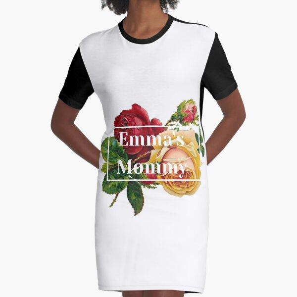 Emma mit königlichen Landrosen T-Shirt Kleid