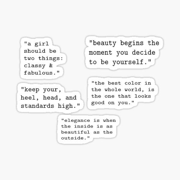 Citations de Coco Chanel Sticker