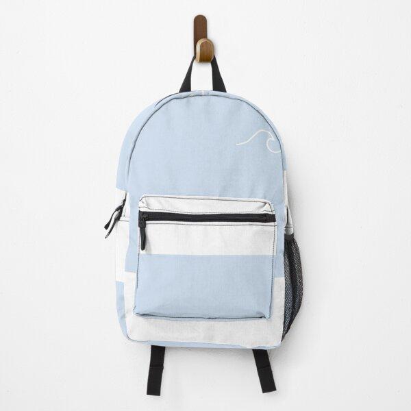 Aesthetic Blue VSCO Wave Print Backpack