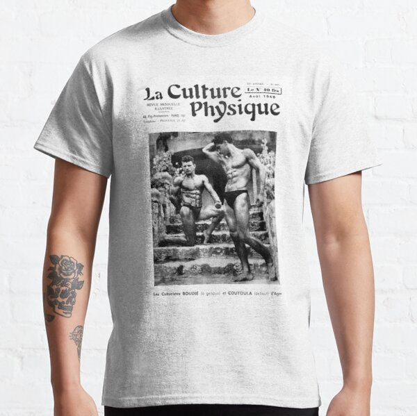 La Culture Physique August 1949 French Bodybuilders Boudie and Coutoula Classic T-Shirt