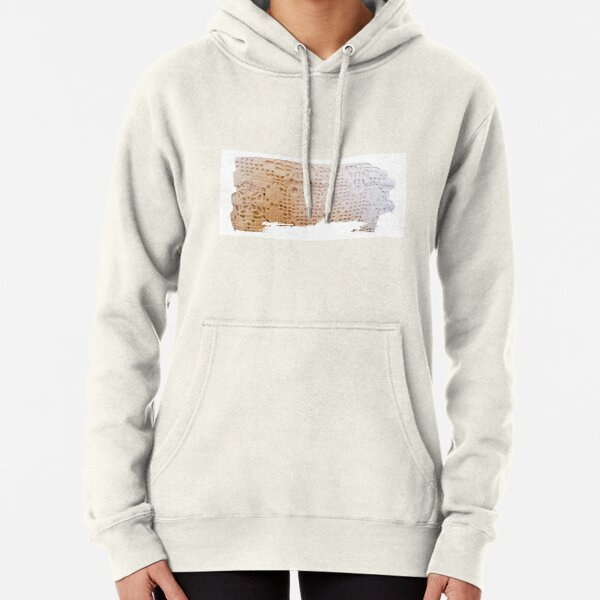 Hand weave ivory Pullover Hoodie